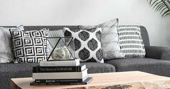diy couchtisch aus holz mit metallbeinen wohnung pinterest industriell grau und kaffee. Black Bedroom Furniture Sets. Home Design Ideas