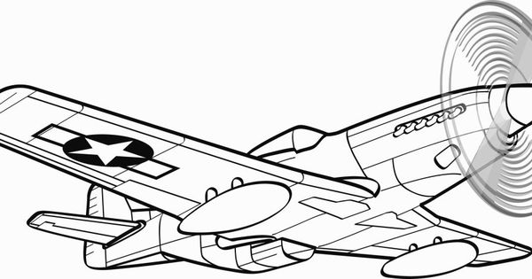 P 51 Mustang Coloring Pages | Coloring Pages | Pinterest ...