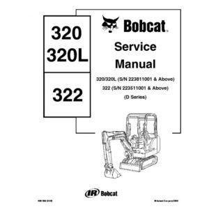 Bobcat 320 322 Excavator Workshop Service Repair Manual Repair Manuals Bobcat Manual