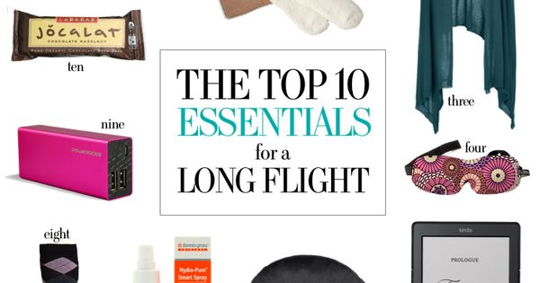 10 Essentials for Long Flights, travel packing, vacation essentials, luggage packing, travel