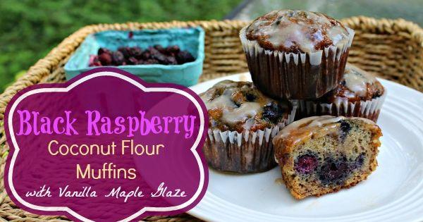 Black raspberries, Coconut flour muffins and Coconut flour on ...