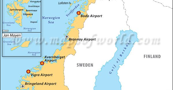 Airports In Norway Oh The Places Well Go Pinterest - Sweden map airports