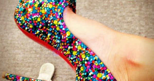 rainbow sparkly shoes!!
