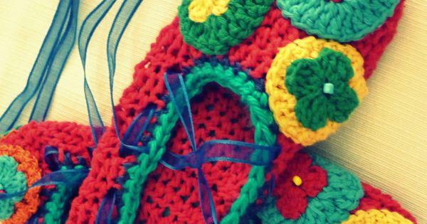 pantuflas tejidas al crochet | Pantuflitas | Pinterest | Crochet