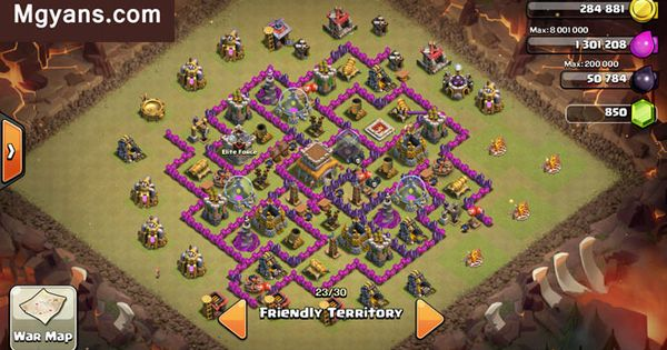 clash of clans th8 crazy base