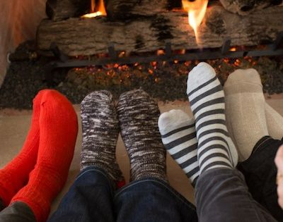 Family, Cozy Fire, Warm Socks, Hot Chocolate:)
