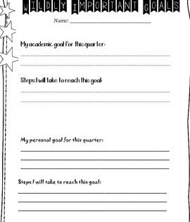 Wildly Important Goals Tracking Sheet Wildly Important Goals School Leader Leader In Me