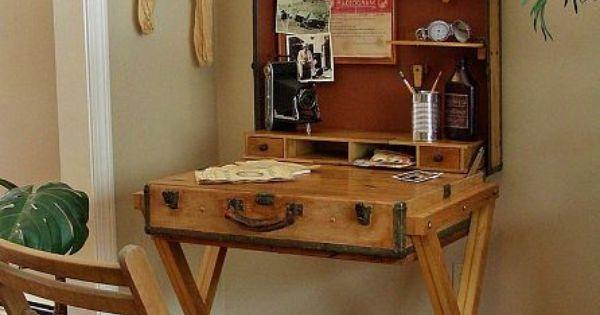 Decoracion del hogar con maletas antiguas estilo vintage for Decoracion hogar retro
