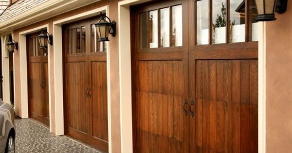 Wood Garage Door Plans Barn Style Garage Doors New Homes House Exterior