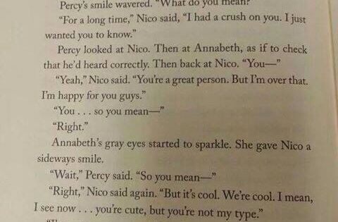 I love how Annabeth is just thinking *oh thank gods he doesn't