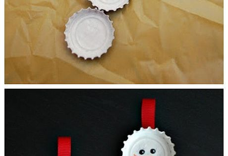 DIY – Bottle cap snowmen super cute Christmas ornaments!