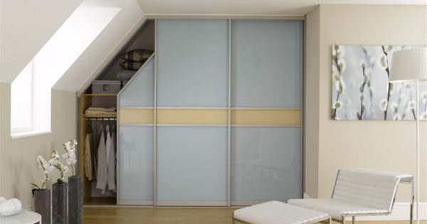 Sloped Ceiling Sliding Wardrobe Shelving Combo Wardrobe Door Designs Fitted Bedroom Furniture Sliding Wardrobe