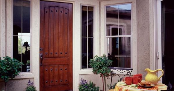 Jeld Wen Aurora All Panel Fiberglass Door Mahogany