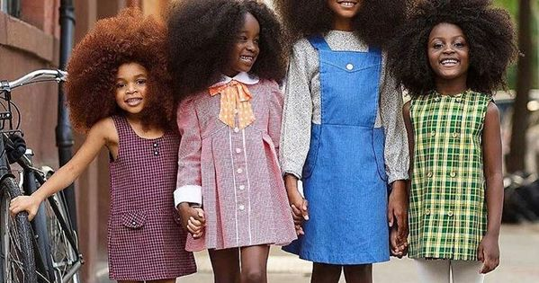 Cute Little Black Girls With Beautiful 1970s Afros