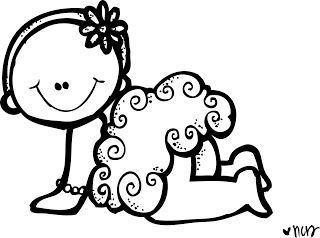 Today S Freebie Baby Coloring Pages Melonheadz Clipart Creative Lettering