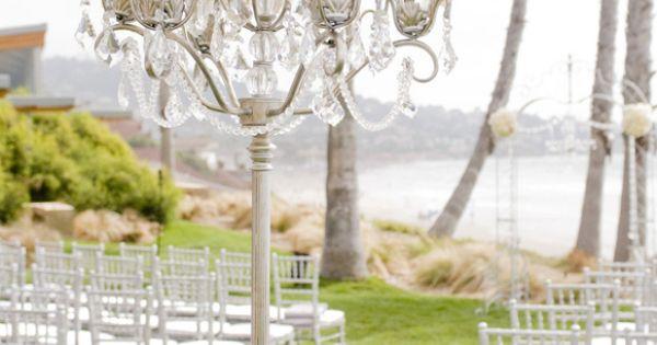 Vintage Beach Wedding Ceremony: Glamorous Vintage Wedding Beach Ceremony Aisle Decorations