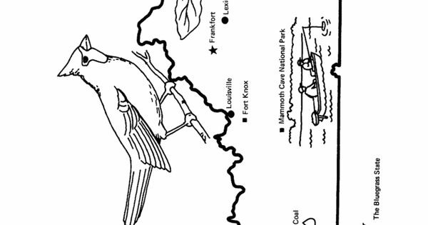 Kentucky State Outline Coloring Page Copy Image And Paste