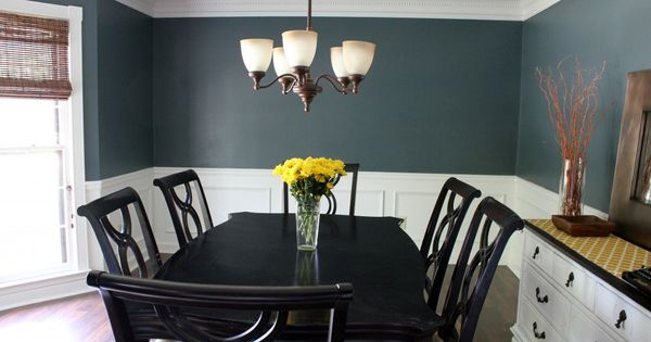 Dining room makeover love this color benjamin moore nocturnal gray paint colors pinterest