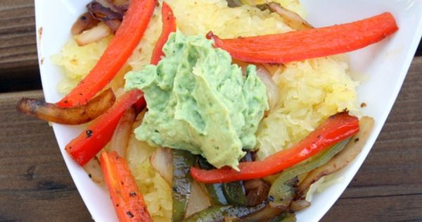 mexican spaghetti squash with creamy vegan avocado spread... sounds uniquely delicious!