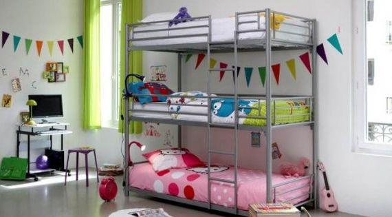 Peque os espacios un dormitorio para dos ni os 3 dos - Literas ninos pequenos ...