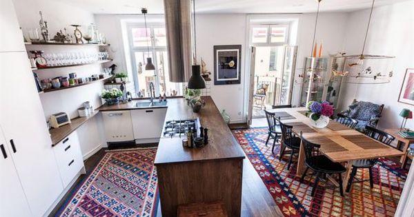 Une maison de ville atypique deco pinterest maison de ville cuisine ou - Cuisine atypique deco ...