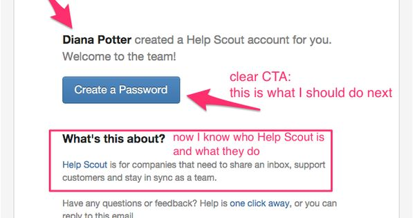 HelpScout invitation email Welcome Emails Pinterest