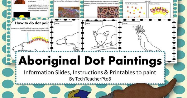 Aboriginal Dot Painting Activity Information slides