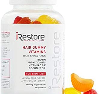 Amazon Com Irestore Hair Gummy Vitamins With Biotin Vitamins C E Coconut Oil Turmeric Vegan Gluten Hair Vitamins Sugar Bear Hair Vitamins Hair Gummies