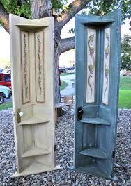 Door Corner Shelf Diy Corner Shelves Ideas Door Corner Shelves Old Door Projects Diy Corner Shelf