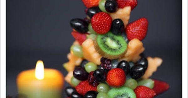 DIY fruits christmas tree, creative christmas tree, 2014 christmas food ideas 2014