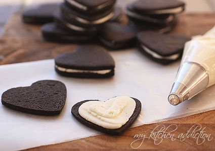 HOMEMADE OREOS: Cookies- 1 cup unsalted butter - 1 cup granulated sugar