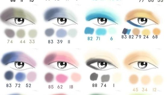Eye shadow color combinations 88 color palette.
