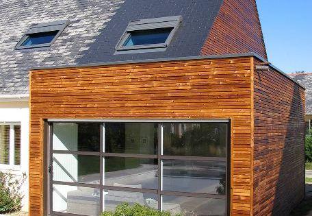 Extension bois maison extension en bois toiture en for Agrandissement maison 71