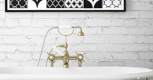 Carrelage adh sif vintage pour la salle de bain imaginez for Plaque de carrelage pour salle de bain