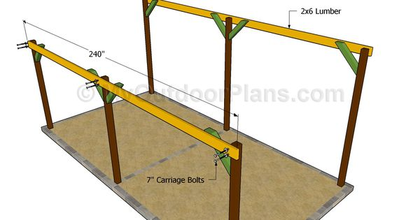 Post and beam carport plans feb 14 2014 http www for Post and beam shed plans