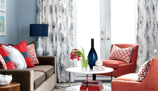 Modern townhouse living room the suite life designs for Cute curtain ideas for living room