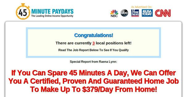 45 Minute Paydays Http Track Mobetrack Com Aff C Offer