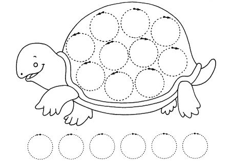 turtle trace worksheet crafts and worksheets for