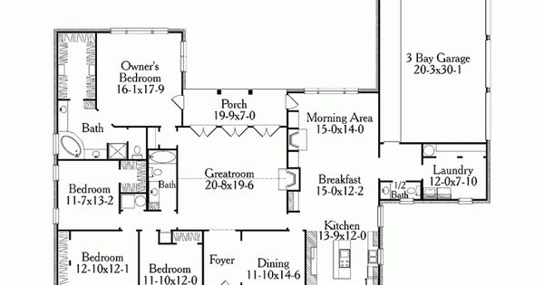 Level 1 dining room as office 1 2 bath as pantry for Basement floor plans 2000 sq ft