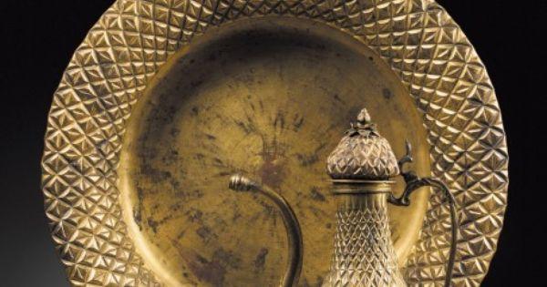 Turquie art ottoman xviiie xixe si cle aigui re et bassin en cuivre dor h 35 3 cm diam - Bassin en cuivre versailles ...