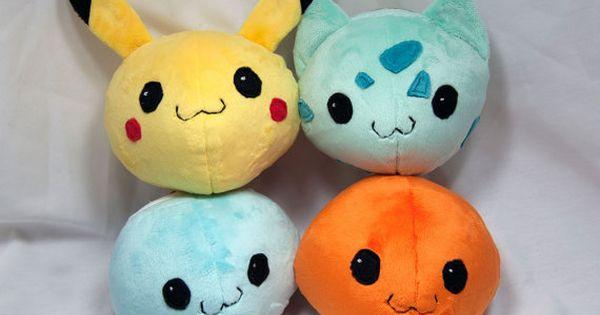Round Pokemon Plush Collection Pikachu by SeamsLegitCrafts on Etsy