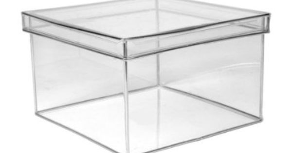 Design Ideas Lookers Box Square Large Clear Acrylic Storage