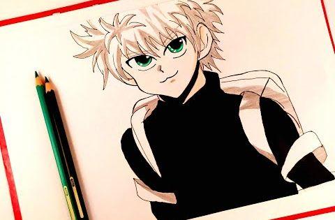 رسم كيلوا زولديك من انمي القناص Drawing Killua Zoldyck Hunter X Hunter Youtube Drawings Art Anime