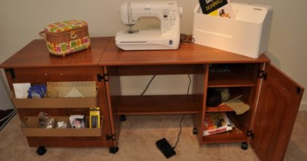 Amazon Com Sauder Sewing Craft Table American Cherry Sewing