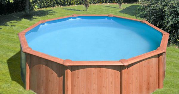 Impressive above ground pool decks with landscape with for Contemporary above ground pools
