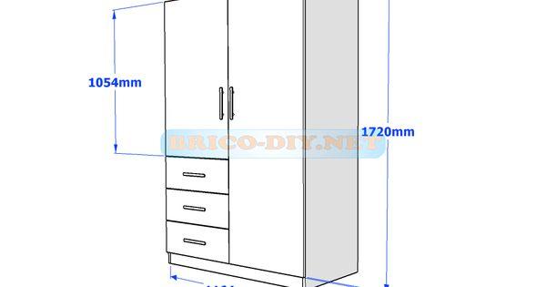 Plano mueble de madera melamina motogmuebles for Planos de muebles de melamina roperos