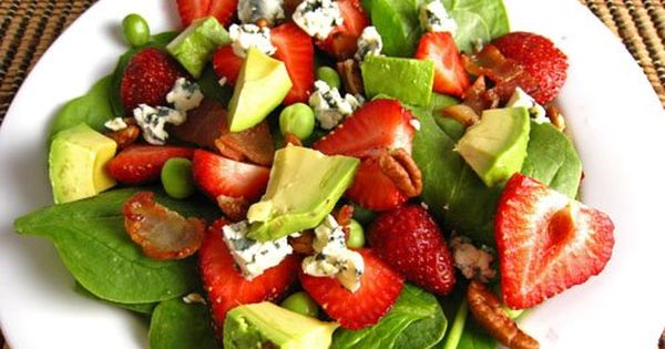 Strawberry Spinach Salad Supreme! salad spinachsalad