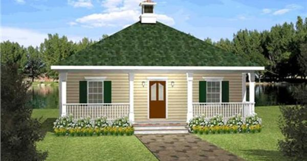 Housing Plans For Small Houses Simple House Design And: This Is A Simple Home Plan With A Large Covered Porch And