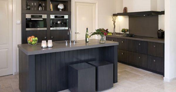 Zwart met grijs blad nieuwe keuken pinterest grijs zwart en keuken - Eigentijdse keuken grijs ...