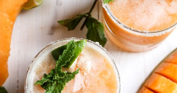 Cantaloupe Margaritas | Margaritas, Cocktail recipes and Fresh